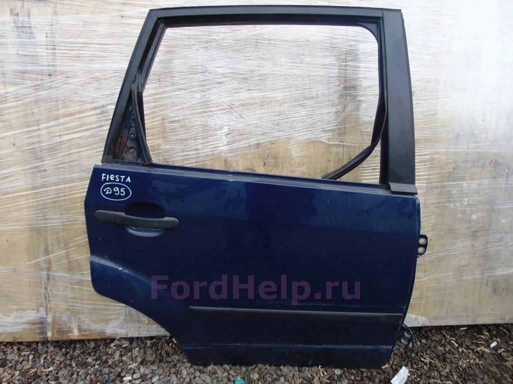 Дверь задняя правая фиолетовая Форд Фиеста