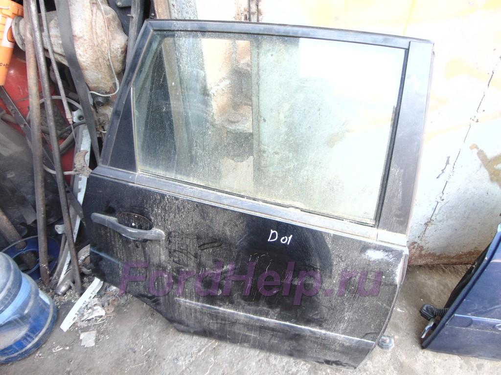 Дверь задняя черная Форд Фиеста
