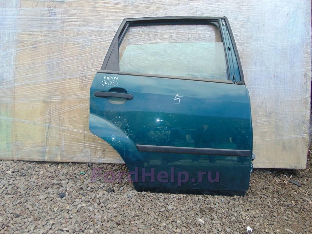 Дверь задняя правая голубая Форд Фиеста