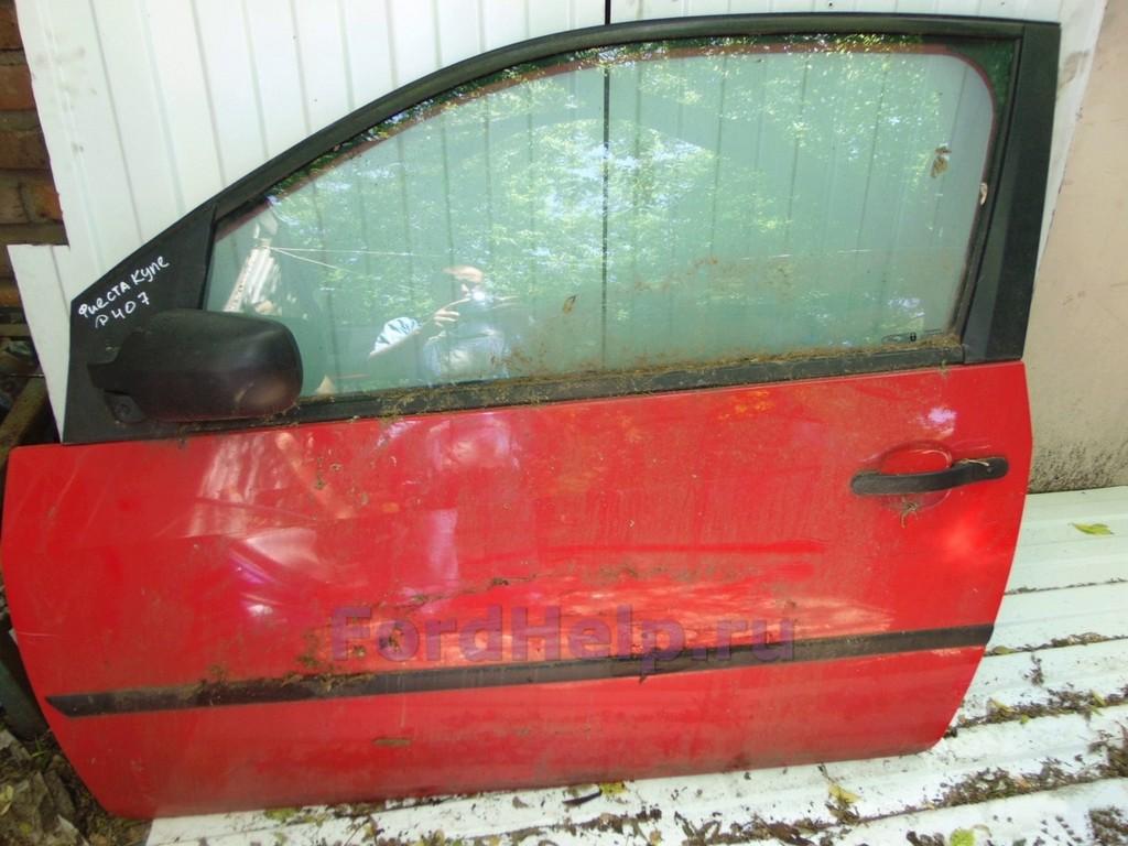 Дверь передняя левая красная Форд Фиеста